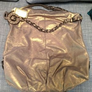 Coach gold leather hobo bag (XL)